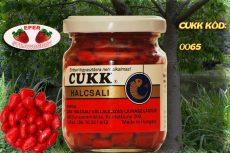 CUKK Piros csemege kukorica 220 ml-es üvegben epres ízesítéssel