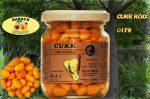 CUKK Halvány narancssárga csemege kukorica 220 ml-es üvegben, barackos