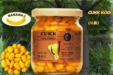 CUKK Sárga csemege kukorica 220 ml-es üvegben, banános