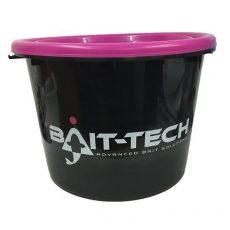 BAIT-TECH etetőanyagos vödör magenta színű tetővel 17l