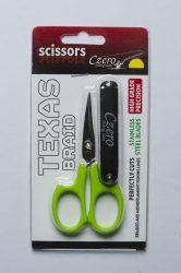 Texas braid scissors fonott zsinór vágó olló