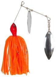 Spinner bait körforgóval narancs, ezüst 21g