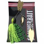 Spinner bait with spoon 14g chartreuse with green net