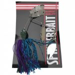 Spinner bait with spoon 14g purple ,blue, black