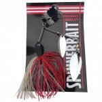 Spinner bait with spoon 14g red and white