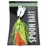 Spoon bait with twister tail 20g fluorescent yellow and white