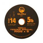 GURU előkötött horog LWGF Feeder Special Rig size 14/100cm