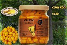 CUKK Sárga csemege kukorica 220 ml-es üvegben, mézes-muskotály ízű