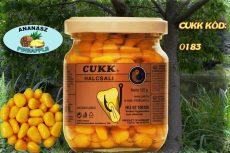 CUKK Sárga csemege kukorica 220 ml-es üvegben, ananászos ízű