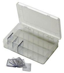 Horogtartó doboz átlátszó 3-24 rekesz