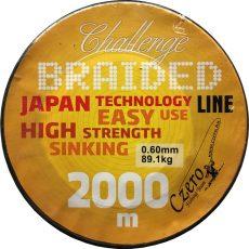 Challenge braided 2000 m 0,25 21,70 kg