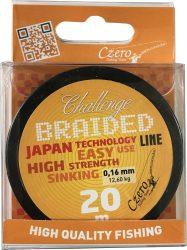 Challenge braided 20m 0,12 8,00 kg